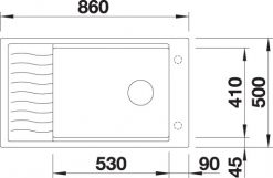 BLANCO BLANCOELON XL 8S - Kjøkkenvask i Silgranit Antrasitt