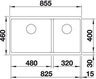 BLANCOSUBLINE 480/320-U - Silgranit Antrasitt - for underliming