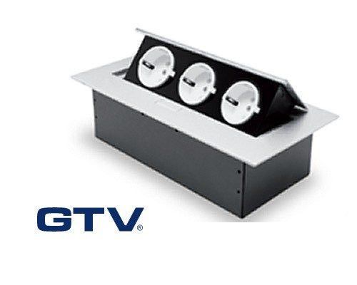 GTV Flip Top - 3 stikk jordet - automatisk åpning - for kjøkken og kontor