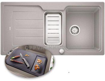 BLANCO Classic NEO 6 S kjøkkenvask i Silgranit Alumetallic (grå)