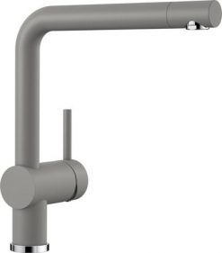 Blanco Linus kjøkkenkran i alumetallic grå farge - dreibar tut- 516699-1854413