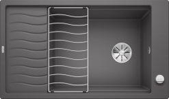 Blanco Elon XL 8 S oppvaskkum i lavagrå farge - rock gray - 1811263-524861