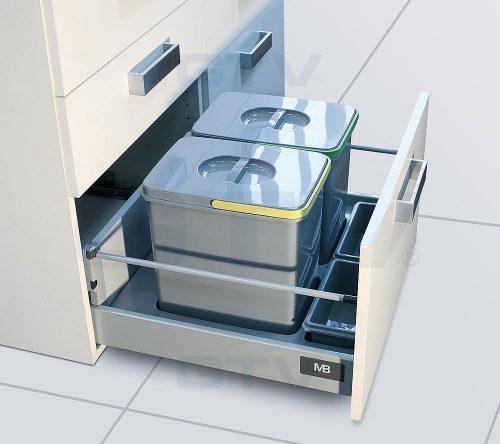 GTV Multino kildesortering for skuff 15 + 15 liter