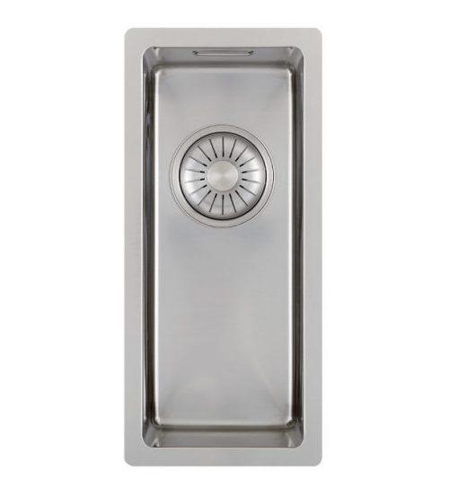 CARESSI 16cm bred håndlaget stål kjøkkenvask - for alle typer montering