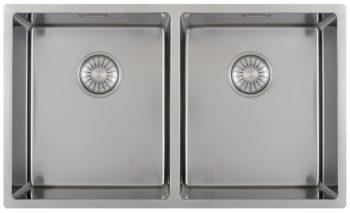 CARESSI 34cm/34cm håndlaget stål kjøkkenvask - for alle typer montering