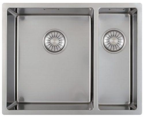 Salg 50% på CARESSI håndlaget stål kjøkkenvask 1,5 kum for alle typer montering