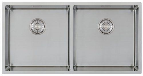 CARESSI 40cm/40cm håndlaget stål kjøkkenvask - for alle typer montering