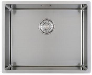 CARESSI håndlaget stål oppvaskkum 40x50 for alle typer montering