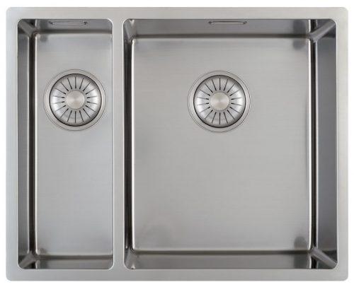 CARESSI håndlaget stål kjøkkenvask 1,5 kum for alle typer montering