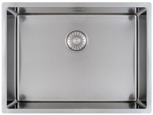 CARESSI håndlaget stål kjøkkenvask 40 x 55cm for alle typer montering