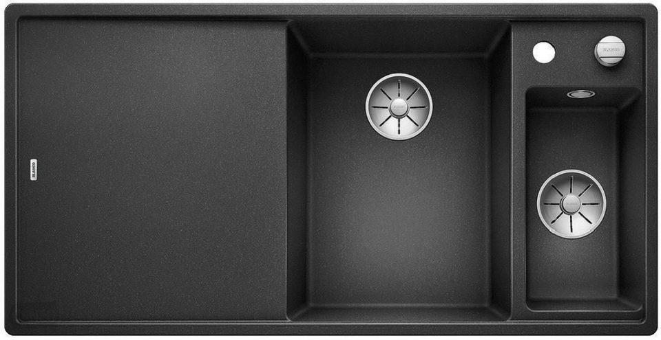 Blanco Axia III 6 S kjøkkenvask i antrasitt sort farge med alt utstyr