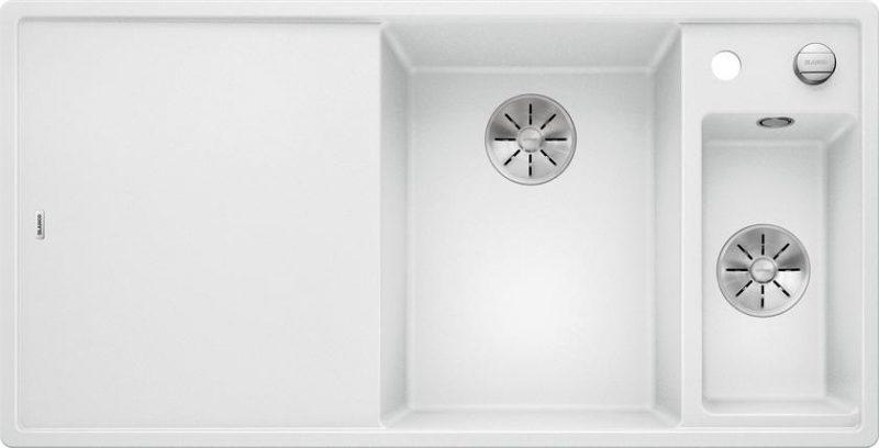 Blanco Axia III 6 S oppvaskkum i silgranitt hvit - alt tenkelig utstyr medfølger - 523466 - 1824744