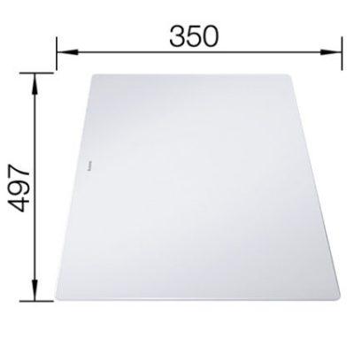Medfølger til Blanco Axia III - skjærefjel i frostet armert glass 234045
