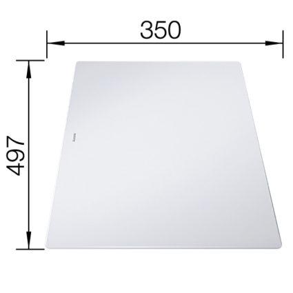 Medfølger til Blanco Axia III – skjærefjel i frostet armert glass 234045