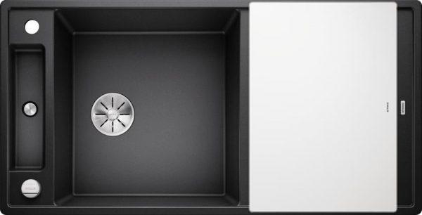 Blanco Axia III XL 6S oppvaskkum / kjøkkenvask i silgranitt antrasitt farge, med skjærefjel og hendel