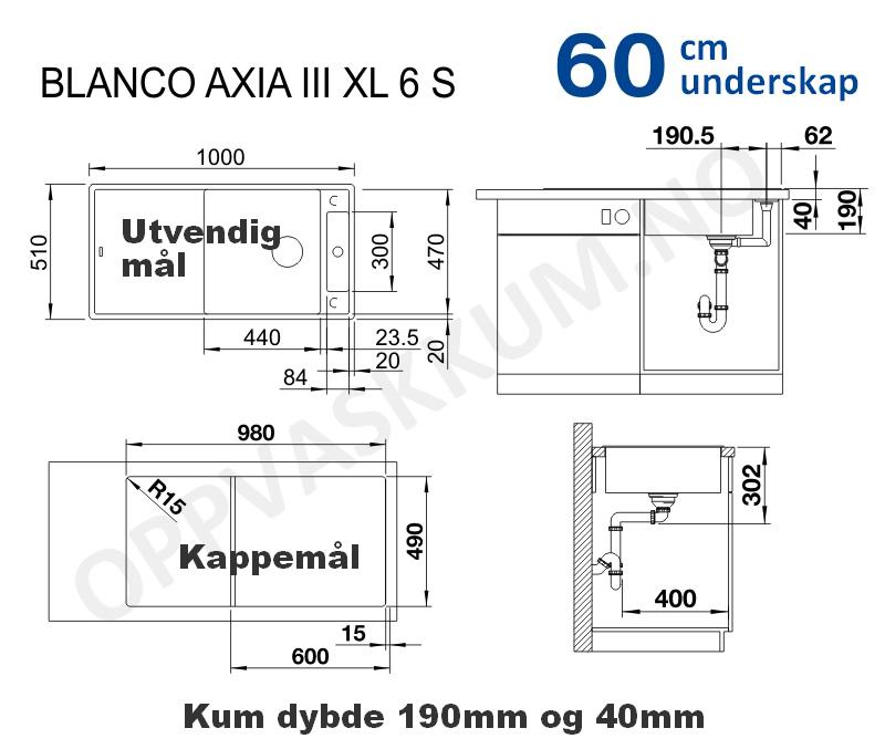 oppvaskkum-blanco-axia-xl6s-maal