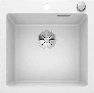 Blanco Pleon 5 oppvaskkum i hvit farge med hendel i metall 523680 -1823648