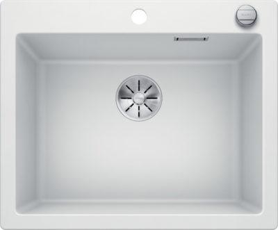 Blanco Pleon 6 oppvaskkum i hvit farge med hendel i metall 523690 -1824645