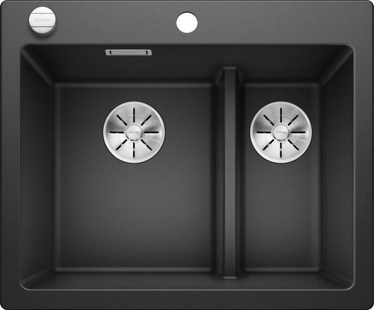 Blanco Pleon 6 Split oppvaskkum i antrasitt sort farge 523696 - 1826106
