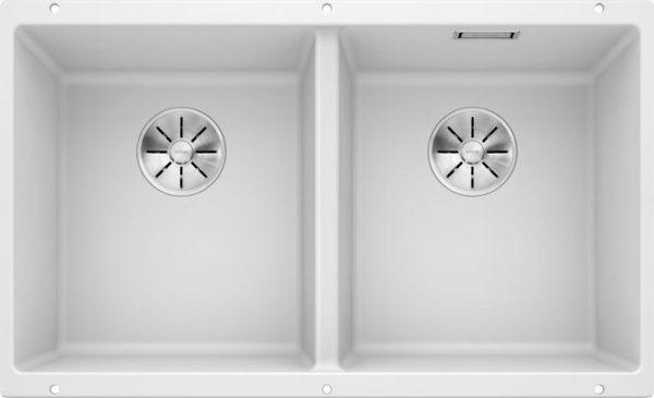 Blanco Subline 350/350-U oppvaskkum kjøkkenvask i hvit - for underliming - 523578 - 1822313