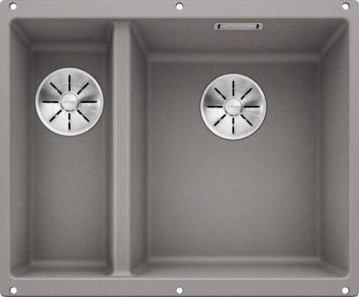 Blanco Subline 340/160-U oppvaskkum kjøkkenvask i Alumetallic grå fare for underliming i 60cm underskap - 523560 - 1826502