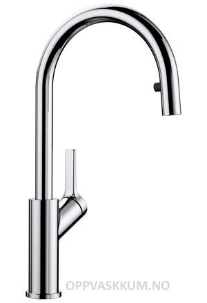 Blanco Carena-S kjøkkenkran i krom - med uttrekk og dusj stråle - 521360-1852808