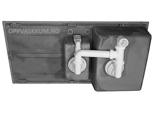 Gratis lavtbyggende rørsett for oppvaskkum og kjøkkenvask