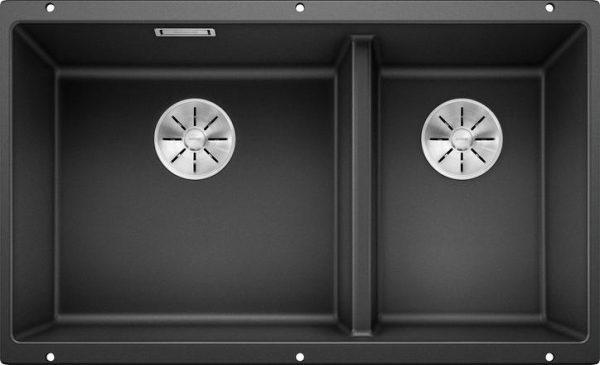 Blanco Subline 430/270-U kjøkkenvask i antrasitt sort svart farge - for underliming