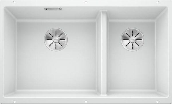 Blanco Subline 430/270-U kjøkkenvask i hvit farge, for underliming i 80cm skap