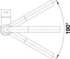 Blanco Lanora-S kjøkkenbatteri måltegning 2