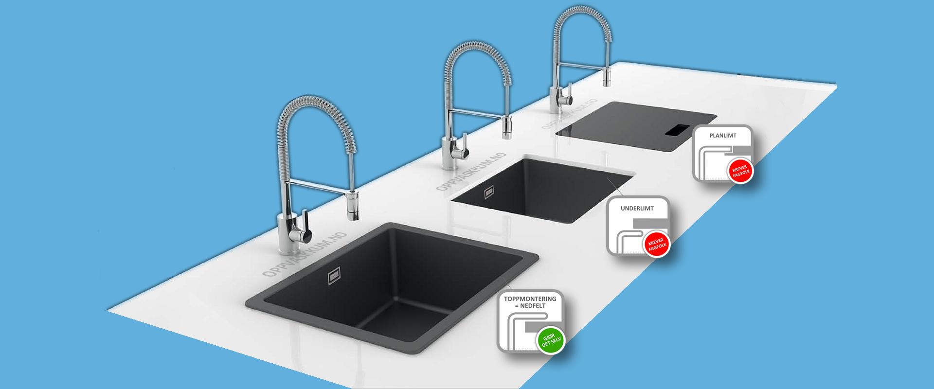 oppvaskkum monteringsmåter kjøkkenvask