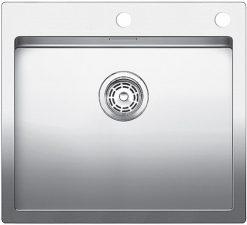 Blanco Claron 500 IF/A rustfritt stål kjøkkenvask med bakplate og hendel