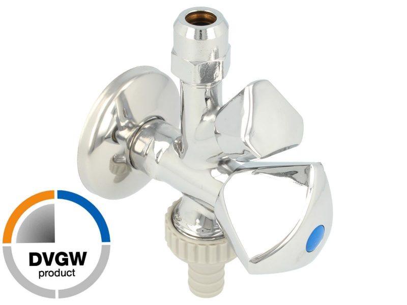 Standard oppvaskmaskin vegguttak tilkobling med 2 stengekraner