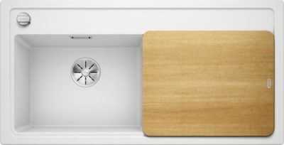 oppvaskkum - Blanco Zenar XL 6 S i Hvit farge, med design skjærefjel i ask