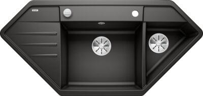 Blanco Lexa 9 E Sort/svart oppvaskkum for nedfelling - Varenummer: Blanco 525910 - Nibu 1835795